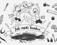 Fish inside Bamboo