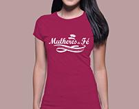 Criação do Logo para Camisa Mulheres de Fé