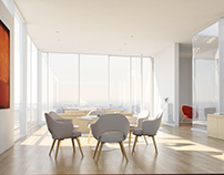 Penthouse Interior visualization, Beverly Hills CA