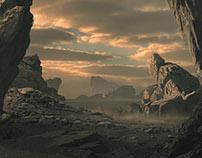 Desert Planet Matte Painting