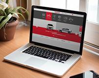 Web Design for auto show Honda