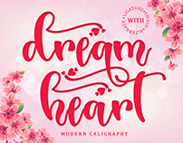 Free Dream Heart Calligraphy Font