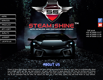 Website Design for Steam and Shine