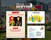 Flyer and poster – Paris New York TV
