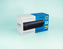 Powerbank + speaker packaging