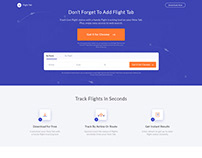 Track Your Flight Landing Page