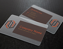 Art & Craft Transparent Business Card Template