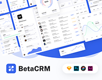 BetaCRM - UI Kit for SaaS and CRM Admin Dashboards