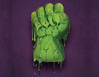Hulk Melting 3d Lenticular(Marvel)