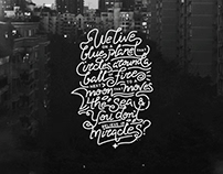 A Quote To Live By / Typography