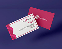 FREE 2 FLYING BUSINESS CARDS MOCKUP