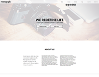Monograph Photography Agency Website Concept