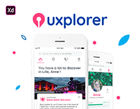 Uxplorer - Discover amazing places app (#IconContestXD)