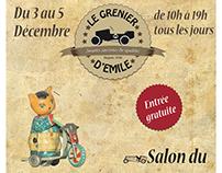 Affiche + Logo Magasin de jouets vintage (Examen)