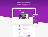 Voice communications app