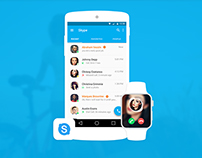 Skype redesign for android L Material