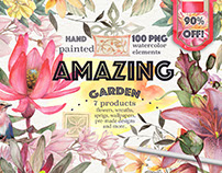 """Amazing garden"" 100 PNG ONLY 8 $ until November 2016"