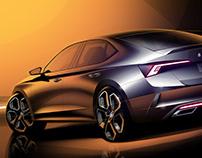 Škoda Octavia RS iV - Press sketches