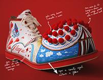 Operação Nariz Vermelho Shoe exhibition piece
