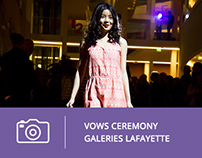 Photos | Vows ceremony Galeries Lafayette 2014