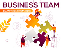 Business Team Illustration Kit