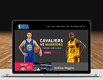 NBA Landing Page Concept
