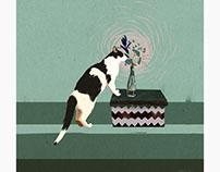 "Cat ""Młody"" digital painting"