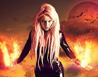 Fire Girl - Photo Manipulation (2015)