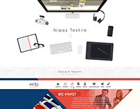 Nipaş Tekstil - Web Interface Design