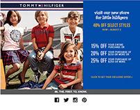 Tommy Hilfiger eblast & Web Banner