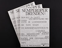 Semper Oper Program Book