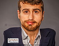 Theo James Caricature