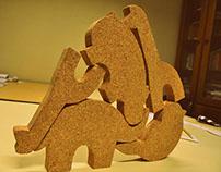 Cork Animals
