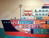 wallpaper for the emigration museum in gdynia
