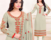 Designer Heavy Embroidered Pakistani Dresses Suits DNU