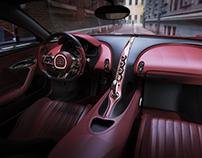 Bugatti Chiron Interior Rendering