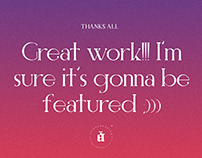 Thanks All - Typography Inspiration