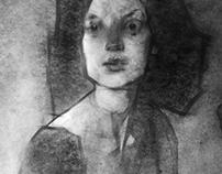 Portrait of Vera. Graphics. 2013.