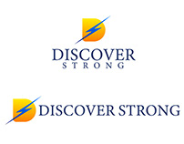 Discover Strong Logo Mockup