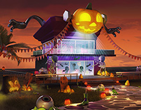 Fanta Halloween Zombies Environment
