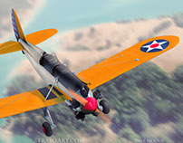 Ryan PT-22 Recruit 3D Model