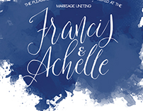 Achelle & Francis Wedding Invitation
