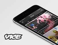 Vice Magazine App Concept