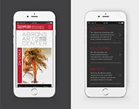 Abrons Art Center // Responsive Web Design