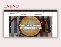 """E-commerce Project. Design for """"L.Vend"""""""