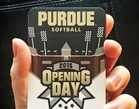Purdue | Softball Opening Day Commemorative Ticket
