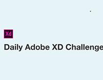 ADOBE XD Daily Challenge