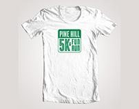 Pine Hill School 5k & Fun Run logo design