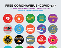 Free Coronavirus, Badges, Stickers & Icons 2020