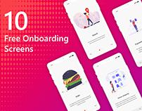 Mobile App 10 Onboarding Screens- Free Adobe XD